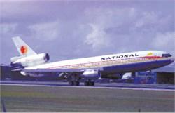 National Airlines postcard Douglas DC-10