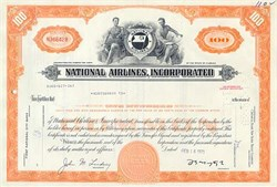 National Airlines Stock Certificate