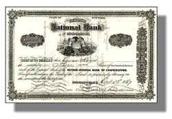 National Bank of Cooperstown, New York 1880's - Baseball Hall of Fame