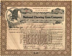 National Chewing Gum Company 1915