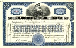 National Conduit Cable Company, Inc. 1920 - New York