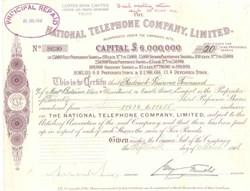 National Telephone Company - England 1906