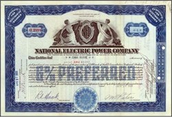 National Electric Power Company 1928 - Maine