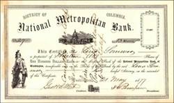 National Metropolitan Bank 1877 - District of Columbia