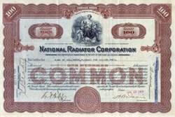 National Radiator Corporation 1929