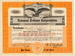 National Tribune Corporation ( Became Stars and Stripes )  - Delaware 1928