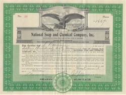 National Soap and Chemical Company, Inc. - 1930