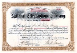 National Telegraphone Company 1903 - Distrtict of Columbia