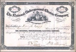 National Underground Electric Company 1886 - Camden, New Jersey