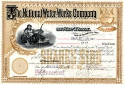 National Water Works Company (Became American Water Works) - New York 1889