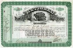 National Typewriter Company 1900 - Rare Early Typewriter Vignette