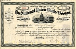 National Union Bank of Boston - Massachusetts 1893