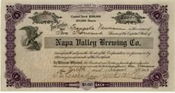 Napa Valley Brewing Company - San Francisco,  California 1909