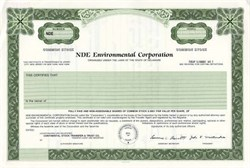 NDE Environmental Corporation - Delaware