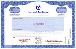 Network Appliance, Inc. - California