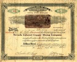 Nevada Calumet Copper Mining Company - Buckskin, Nevada. Yerrington District - Territory of Arizona 1908