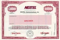 Nextel Communication, Inc. (Pre Spirnt Merger)  - Delaware