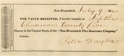 New-Brunswick Fire Insurance Company - 1840