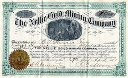 Nellie Gold Mining Company of Colorado - New York 1884