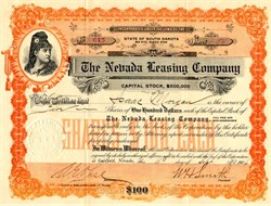 Nevada Leasing Company - Goldfield, Nevada -  1906