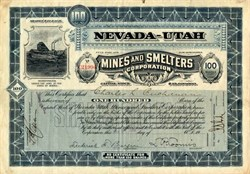 Nevada-Utah Mines and Smelters Corporation - Maine 1912