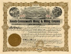 Nevada-Commonwealth Mining & Milling Company - Nevada 1906