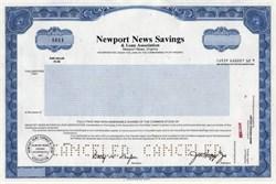Newport News Savings and Loan Association - Virginia 1986
