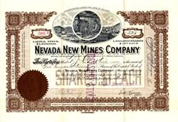 Nevada New Mines Company - Nevada. Mineral. Rawhide. 1913