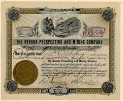 Nevada Prospecting and Mining Company - Goldfield. Nevada - Organized in District of Columbia 1905