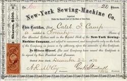 New-York Sewing-Machine Co. - New York 1870