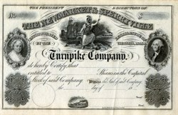 Newmarket & Sperryville Turnpike Company (George and Martha Washington vignette) - Virginia 1848