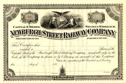 Newburgh Street Railway Company - New York  1880's