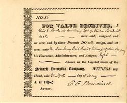 Newark Turnpike Company - New Jersey 1840