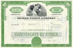 Nevada ( Las Vegas) Power Company Stock Certificate