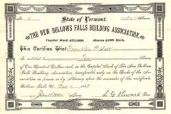 New Bellows Falls Building Association - Vermont 1888