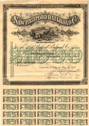 New Bedford Railroad Co. - Massachusetts 1876