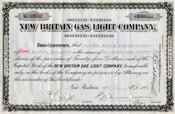 New Britain Gas Light Company ( Now Connecticut Natural Gas Corporation ) - 1930