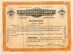 New Bradford Oil Company - Colorado 1923