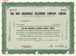 New Brunswick Telephone Company ( Now Aliant Inc ) - Canada
