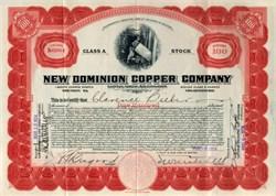 New Dominion Copper Company - Arizona 1924