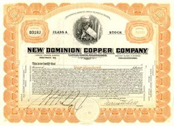 New Dominion Copper Company - Arizona 1922