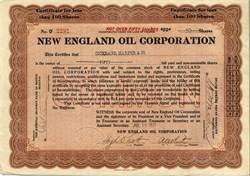 New England Oil Corporation - 1921