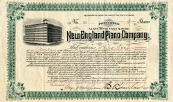 New England Piano Company - Maine 1899