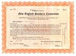 New England Southern Corporation - Massachusetts 1929 ( Owned New England Southern Mills )