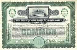 New England Steamship Company (Fall River Line)  - 1913
