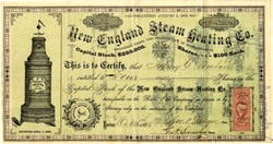 New England Steam Heating Co. - Massachusetts 1866