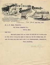 New England Summer Resort Association - New York 1897