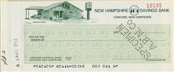 New Hampshire Savings Bank Check  (Heights Office) - Concord