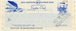 New Hampshire Savings Bank Vacation Check - Concord