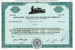 New Hope and Ivyland Railroad - 1966